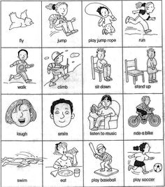 esl verb cards (actions) for beginner gesture game