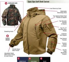 NEW !! Special Ops Tactical Soft-Shell Jacket