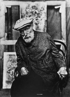 Photo of Pierre-Auguste Renoir towards the end of his life, when his hands were completely ruined by arthritis (which didn't stop him from painting and smoking like a chimney, as this old film shows…)