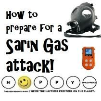 How to prepare for a Sarin gas attack ~ What a prepper needs to know to survive a Sarin Gas chemical attack. Survival Supplies, Survival Food, Survival Prepping, Emergency Preparedness, Survival Skills, Survival Equipment, Survival Stuff, Wilderness Survival, Outdoor Survival