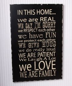 Love this Black 'In This Home' Wall Art by Adams & Co. on #zulily! #zulilyfinds