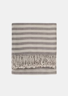 what's better than super soft and striped? bamboo throw by nine space via thegreenlifeco.com