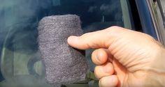 Inacreditável! A 'Técnica da Palha de Aço' faz milagre com o vidro do carro   SOS Solteiros