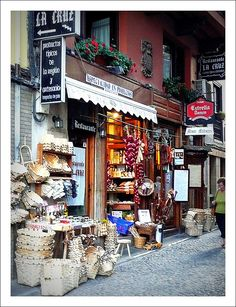 Inner City shops in Cantabria, Spain. Places In Spain, Places To Visit, Granada, Madrid, Asturias Spain, Spain Images, Spain And Portugal, Spain Travel, Travel Inspiration