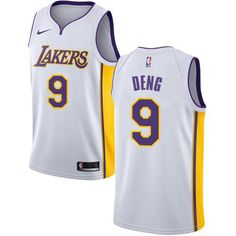 20860ad1a1aa Men 9 Luol Deng Jersey White Los Angeles Lakers Fanatics Swingman