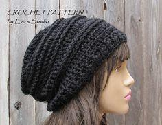 Crochet Hat  Slouchy  Hat Crochet Pattern PDFEasy by EvasStudio