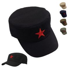 e758f3ea678 Vintage Army Russian Red Star Hat Fancy Camouflage Casual Military Soldier  Cap