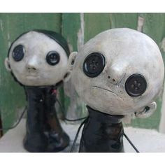 button goth dolls