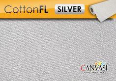 Leinwand Cotton FL Silver Canvas Paper, Cotton Canvas, Gold, Canvas, Silver, Yellow