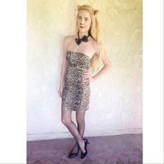 cheetah leopard print Halloween costume dress Strapless cheetah leopard print Halloween costume dress. Is fitted and hugs the body. Would be great for Halloween! *this listing is for the dress ONLY. No accessories included Forever 21 Dresses