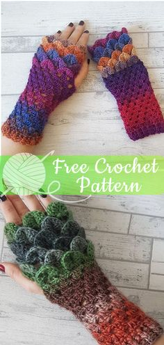 Dragon Scale Fingerless Gloves  CROCHET FREE PATTERNS  - All About Crochet  Crochet Fingerless Gloves 60bff260a6dc
