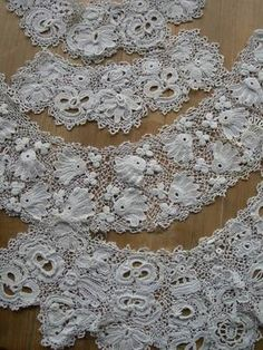 Victorian Irish lace set