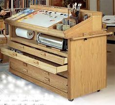 Amazing Taboret: Kate Palmer Taboret - Cheap Joe's Art Stuff Another pinner said it is Way Too Expensive. Art Studio Design, Art Studio At Home, Home Art, Art Studio Organization, Art Storage, Art Desk, Studio Furniture, Dream Studio, Painting Studio