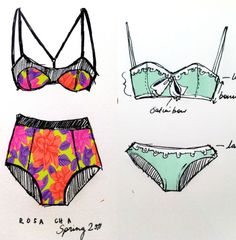 new Ideas fashion sketches swimwear bikini tops Moda Fashion, Fashion Art, Trendy Fashion, Bikini Swimwear, Bikini Tops, Swimsuits, Lingerie Illustration, Cute Underwear, Jolie Lingerie