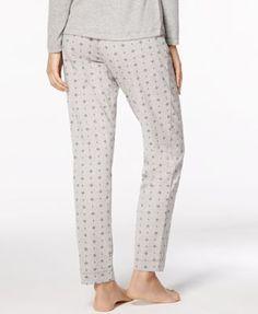 Nautica Printed Stretch-Jersey Pajama Pants - Gray XXL