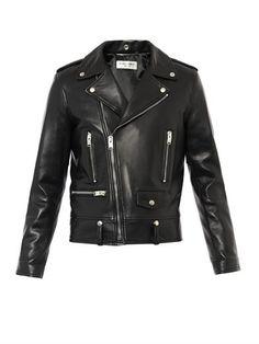 Leather biker jacket | Saint Laurent | MATCHESFASHION.COM