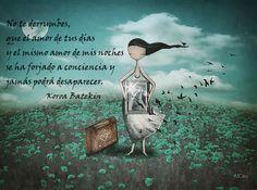 "Fragmento de ""Empieza a vivir"" de La Carta de la Luna - Koroa Batekin. Pintura de Amanda Cass."
