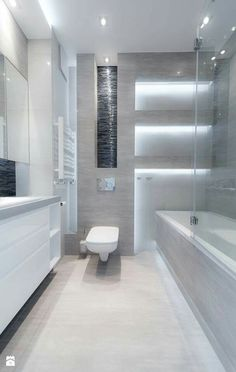 Łazienka Modern Bathrooms Interior, Contemporary Bathrooms, Bathroom Interior Design, Modern Interior Design, Best Bathroom Designs, Bathroom Design Small, Bad Inspiration, Bathroom Inspiration, Wc Design