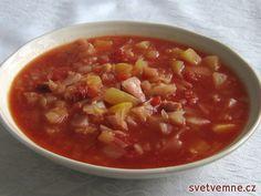Zelná rajčatová polévka, recept