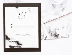 Cove Wedding Invitation Suite | August & Osceola | www.augustandosceola.com | Emanating with abstract elements, Cove is infused with a deep passion for the sea. If your big day is a celebration by the sea, Cove will not disappoint. With marble detailing and playful typography, this suite is a work of art. Enhance your look with hot foil stamping / letterpress.