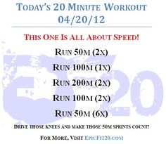Today's 20-Minute Workout 04/20/12