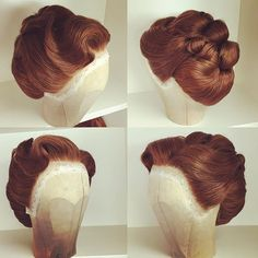 Vintage Hairstyles: Easy Pin Curl Set for Retro Waves Vintage Hairstyles Tutorial, 1940s Hairstyles, Wig Hairstyles, Wig Styles, Short Hair Styles, Historical Hairstyles, Retro Updo, Hair Today, Hair Dos