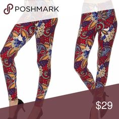 JUST IN!!! Be bold Leggings Be bold in these gorgeous paisley bright colored leggings. SO FREAKING SOFT!!! One size fits all, comes in original packaging. Pants Leggings