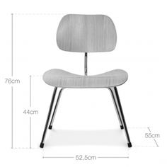 Charles Eames Style Wood DCM Chair With Oak Veneer - Charles Eames from Cult Furniture UK