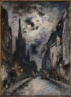 La Rue Saint-Séverin, 1877, Johan Barthold Jongkind