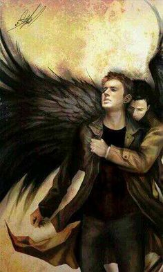 Not a Supernatural fan, but this picture of Dean and Castiel is so beautiful!