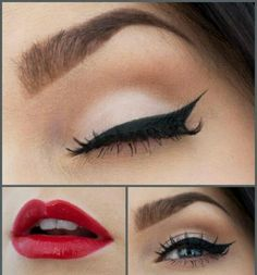 La novia pin up - maquillaje eyeliner