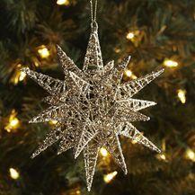 Glitter Multipoint Star Ornament - Gold