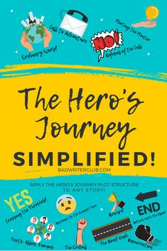 See how easy it is to apply the Hero's Journey plot structure to any story. Writing Worksheets, Writing Lessons, Writing Activities, Writing Tips, Writing A Book Outline, Plot Outline, Plotting A Novel, Teacher Portfolio, Creative Writing Classes