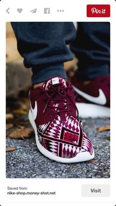 e630aba28 shoes nike burgundy aztec roshes sneakers cute Zapatos Nike