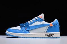 "5a1007dbd71dff 2018 Off-White x Nike Air Jordan 1 Low ""UNC"" AQ0818-14"