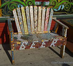 that's a lot of bottle caps - Beer Bottle Cap Bench