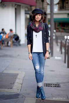 Уличная мода: Модные образы Zoé Alalouch: французский шарм и элегантность