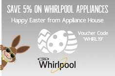 Save on ALL Whirlpool Appliances using voucher code This offer is available over the Easter bank holiday Limited time promotion. Happy Easter everyone! Freestanding Kitchen, Happy Easter Everyone, Voucher Code, Bank Holiday, Christmas Crafts, Home Appliances, Coding, Promotion