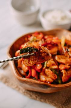 Thai Chili Sauce Chicken Stir-fry, by thewoksoflife.com