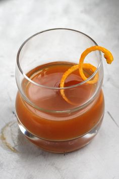 Mixing an Old Fashioned with subtly sweet pumpkin puree makes a brilliant seasonal drink.