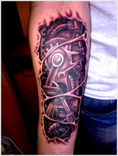 Bio-mechanical Tattoo designs: The Biomechanical Tattoo Ideas And Meaning On Arm ~ tattooeve.com Tattoo Design Inspiration