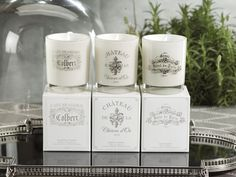 Paris Hotel Candles - Small #home #homedecor #fragrance #homefragrance #interiordecorating #decor #candles #scentedcandles #paris #french  http://www.carlyleavenue.com/collections/whats-new/products/paris-hotel-candles-small