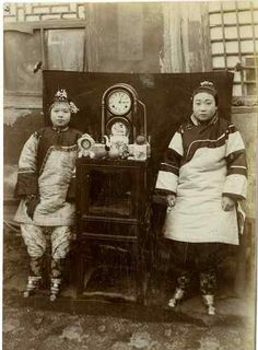 Chinese Girls Vintage print, China Tirage citrate 10X15