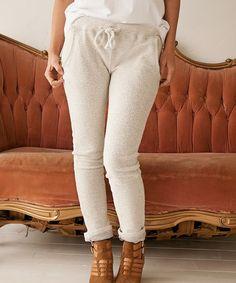 YES!! Love this Beige Drawstring Sweatpants on #zulily! #zulilyfinds