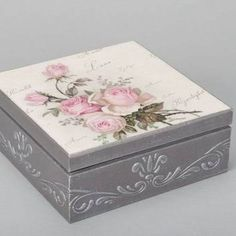 Handmade decoupage box made of wood for accessories interior decor ideas gift Decoupage Vintage, Decoupage Art, Cigar Box Crafts, Altered Cigar Boxes, Interior Decorating Tips, Pretty Box, Jewellery Boxes, Craft Box, Wooden Boxes