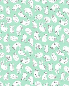 Prints + Patterns. #Print #Pattern #Mint #Rabbits