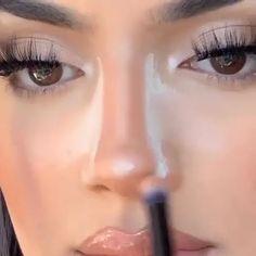 Face Contouring Makeup, Nose Makeup, Edgy Makeup, Makeup Eye Looks, Grunge Makeup, Eyebrow Makeup, Makeup Contouring Tutorial, Simple Makeup, Skin Makeup