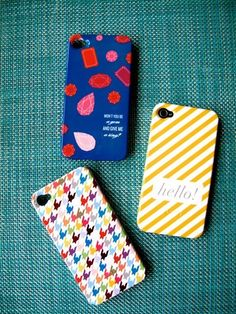 IPHONE 4S CASES! Love the houndstooth one.