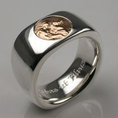Bespoke Sentimental Bond Wide Men's Ring Platinum