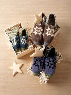 Fair Isle Slippers | Yarn | Free Knitting Patterns | Crochet Patterns | Yarnspirations